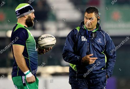 Connacht's John Muldoon and head coach Pat Lam