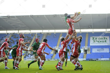Editorial image of London Irish v Gloucester Rugby, Britain - 30 Nov 2014