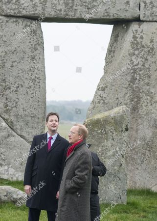 Deputy Prime Minister Nick Clegg with Simon Thurley, Director of English Heritage