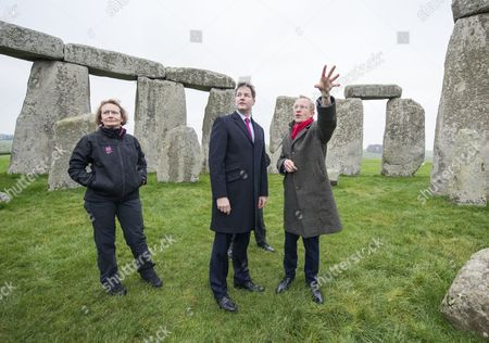 Deputy Prime Minister Nick Clegg with Simon Thurley, Director of English Heritage and Dame Helen Ghosh, Director-General of the National Trust.