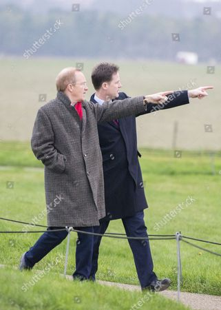 Stock Photo of Deputy Prime Minister Nick Clegg with Simon Thurley, Director of English Heritage