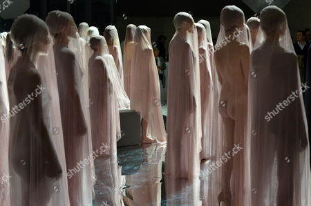Editorial image of VB64 performance by Vanessa Beecroft at the Maxxi Museum, Rome, Italy - 01 Dec 2014