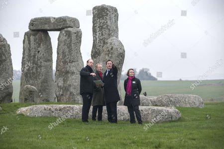 Editorial image of Prime Minister David Cameron visits Stonehenge to announce construction of new road tunnel, Wiltshire, Britain - 01 Dec 2014