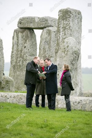Editorial photo of Prime Minister David Cameron visits Stonehenge to announce construction of new road tunnel, Wiltshire, Britain - 01 Dec 2014
