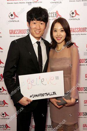 Ji-Sung Park and Kim Min Ji