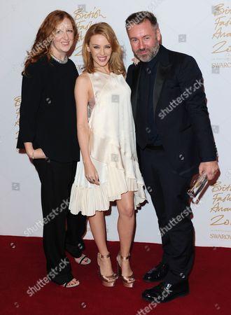 Thea Bregazzi, Kylie Minogue and Justin Bregazzi