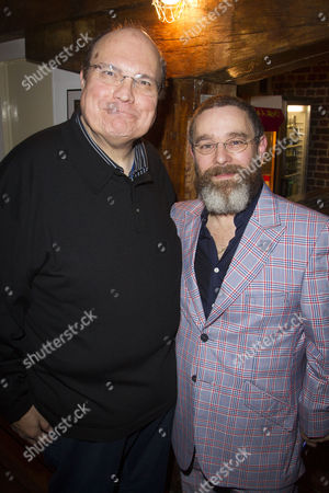 Stock Image of Mike McShane (Samuel Byck) and Andy Nyman (Charles Guiteau) attend the after party