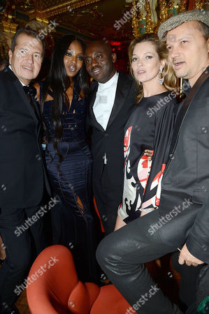 Mario Testino, Naomi Campbell, Edward Enninful, Kate Moss and Gerry DeVeaux