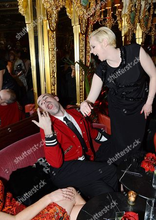 Stock Picture of Gwendoline Christie and Richard Sloan
