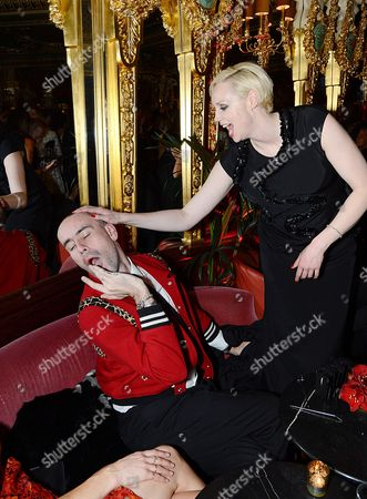 Stock Photo of Gwendoline Christie and Richard Sloan