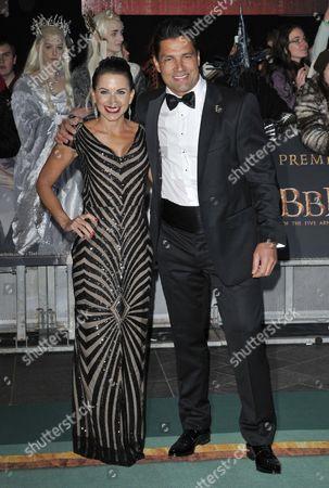 Karin Horen and Manu Bennett