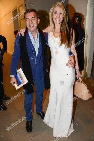 Stock Photo of Robin Cook and Stasha Palos