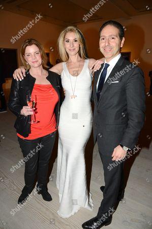 Stasha Palos (c) and guests