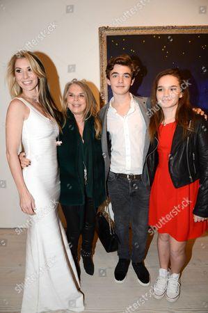 Stasha Palos, Lady Tina Green, Jordan Palos and Lily Palos