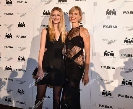 Stock Picture of Linda Vojtova and Karolina Kurkova