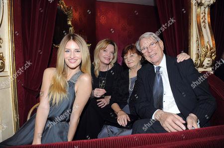Linda Vojtova with her family