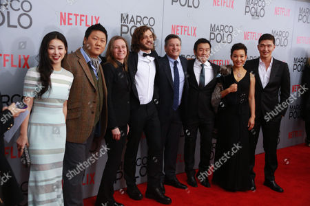 Zhu Zhu, Benedict Wong, Cindy Holland, Lorenzo Richelmy, Ted Sarandos, Chin Han, Joan Chen and Rick Yune