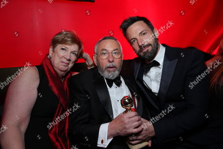 BEVERLY HILLS, CA - JANUARY 13:  Jonna Goeser, Tony Mendez and Ben Affleck at Warner Bros. /InStyle Golden Globes Party held at The Beverly Hilton Hotel on January 13, 2013 in Beverly Hills, California. (Photo by Eric Charbonneau/Le Studio)