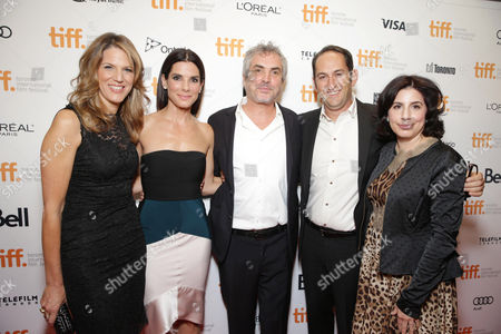 Lynn Harris, Sandra Bullock, Alfonso Cuaron, Greg Silverman, Sue Kroll