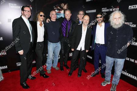 Marc Reiter, Kirk Hammett, Peter Mensch, James Hetfield, Tony DiCioccio, Lars Ulrich, Robert Trujillo, Cliff Burnstein