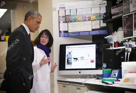 Editorial picture of President Barack Obama visit to National Institutes of Health in Bethesda, Maryland, America - 02 Dec 2014