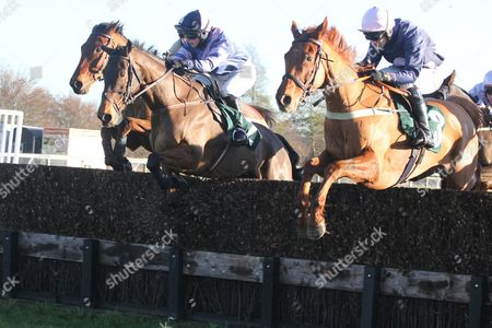 OORAYVIC (right) on the way to winning BHEST Racing To School Chase, the first leg of a Sue Smith-Danny Cook Double Catterick