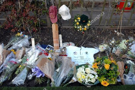 Flowers and tributes