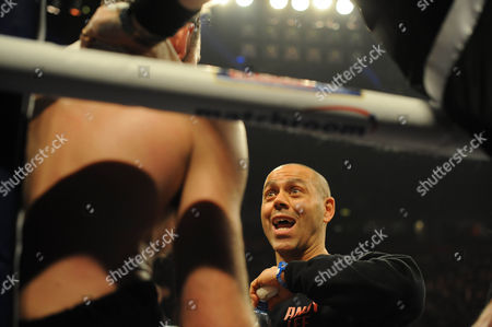 Boxing - Ibf/wba World Super-middleweight Championship At The Phones 4 U Arena In Manchester. Adam Booth Trainer Andy Lee.
