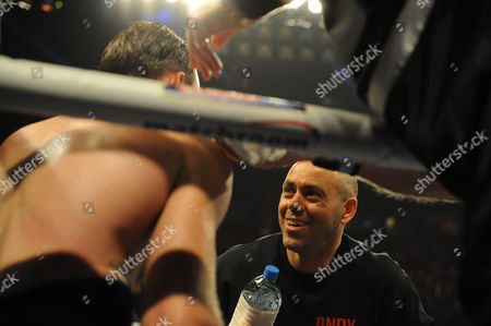Boxing - Ibf/wba World Super-middleweight Championship At The Phones 4 U Arena In Manchester. Adam Booth Trainer In Andy Lee Corner.