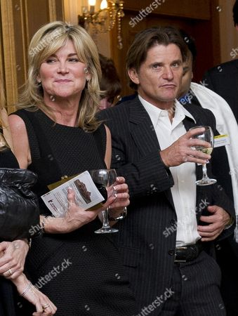 Tv Presenter Anthea Turner Who Arrived With Dragons Den Businessman Richard Farleigh Pictured At The Grassroot Diplomat Charity Event Held At The Bulgarian Embassy Building At 186-188 Queens Gate Kensington Sw7 5hl. Byline John Nguyen/jnvisuals 27/11/2013.