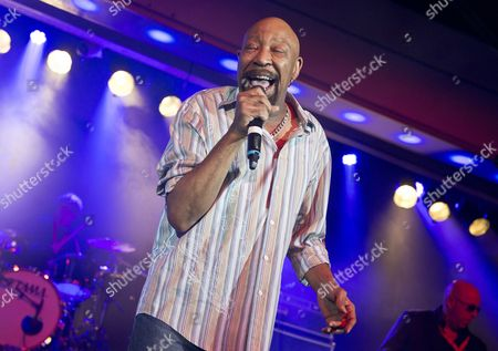 Stock Picture of Skegness United Kingdom - January 25: American Rhythm And Blues Musician Geno Washington Performing Live On Stage At The Great British Rock And Blues Festival In Skegness On January 25