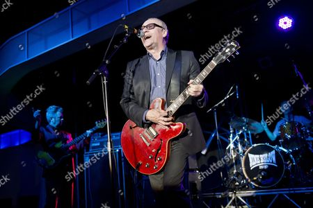 Stock Image of Skegness United Kingdom - January 26: Guitarist And Vocalist Dennis Greaves Of English Blues Group Nine Below Zero Performing Live On Stage At The Great British Rock And Blues Festival In Skegness On January 26