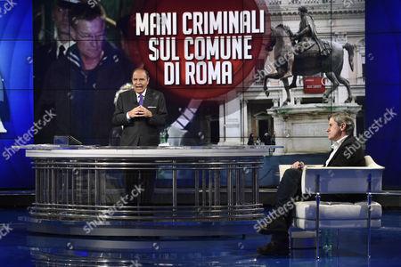 Journalist Bruno Vespa and former Mayor of Rome, Gianni Alemanno