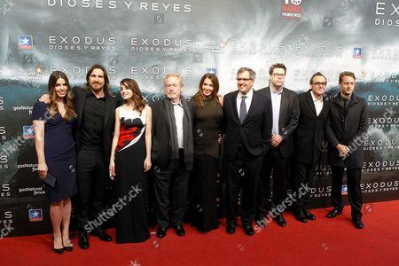 Alberto Iglesias, Christian Bale, Sibi Blazic, Maria Valverde, Ridley Scott and Giannina Facio