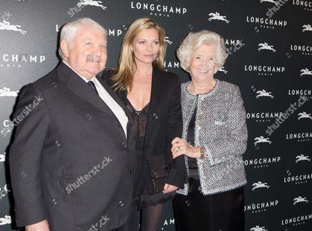 Philippe Cassegrain, Kate Moss and Michele Cassegrain
