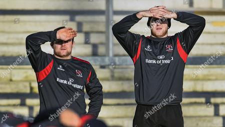 Andrew Warwick with Declan Fitzpatrick