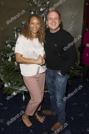 Angela Griffin and Owain Arthur
