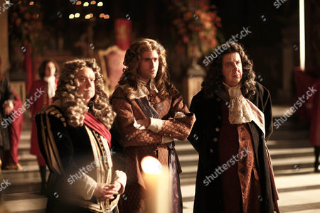 Richard McCabe as Lord Hyde, Oliver Jackson Cohen as James and Richard Dixon as Ashley Cooper.