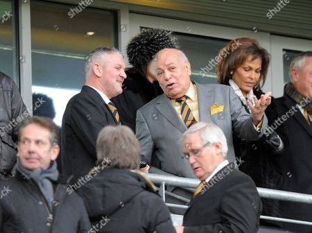 Owner Assem Allam of Hull City with Dean Windass