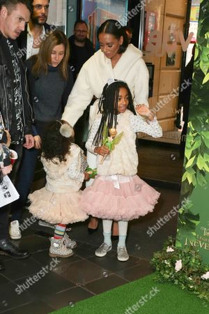 Melanie Brown and children Angel Iris Murphy Brown, Madison Brown Belafonte