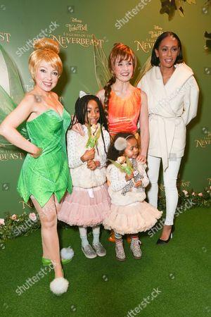 Stock Photo of Melanie Brown and children Angel Iris Murphy Brown, Madison Brown Belafonte with Tinkerbells