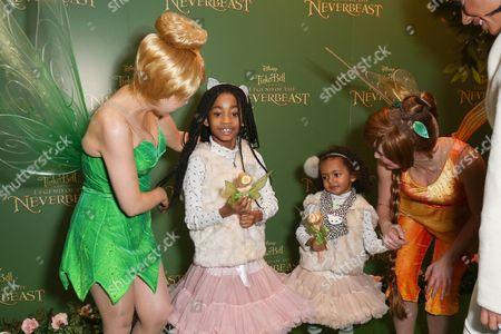 Melanie Brown and children Angel Iris Murphy Brown, Madison Brown Belafonte with Tinkerbells