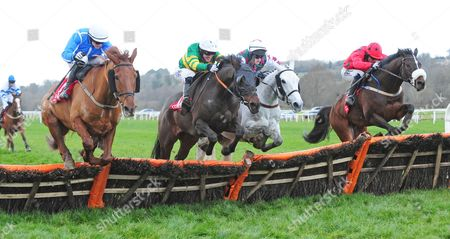 CORK JUMPTOCONCLUSIONS and Tony McCoy (2nd Left) jump the last with (L-R) Samanntom, Shesaportrait & Old Time Melody before winnng for trainer Edward O'Grady. HEALY RACING