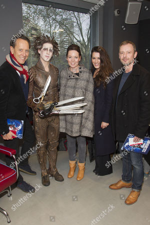 Richard E Grant, Dominic North (Edward Scissorhands), Olivia Colman, Kate Magowan and John Simm