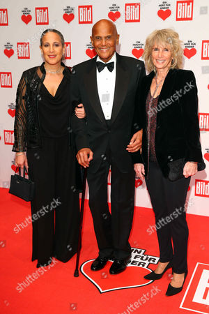 Harry Belafonte, wife Pamela and daughter Gina