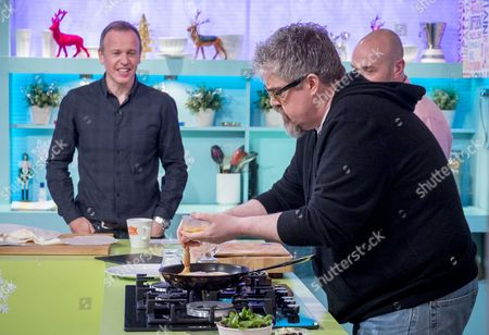 Tim Lovejoy and Simon Rimmer with Phill Jupitus