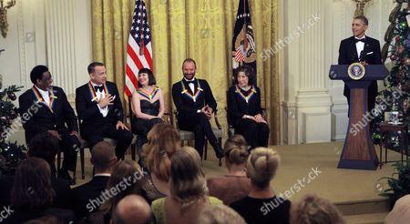 Al Green, Tom Hanks, Patricia McBride, Sting, Lily Tomlin and President Barack Obama