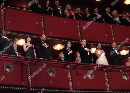 Al Green, Patricia McBride, Sting, Lily Tomlin, Tom Hanks, Michelle Obama and President Barack Obama