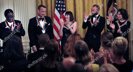 Al Green, Tom Hanks, Patricia McBride, Sting, and Lily Tomlin