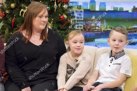 Debbie Watson with children Ryan (7) and Emma (5)